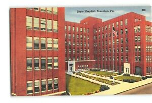 Postcard PA State Hospital Scranton State General for Miners