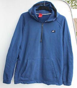 Nike Air vintage Hoodie Sweatshirt Pullover Kapuze Jogging Größe XXL blau