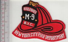 Fire Boat New York City NYC Fire Department Company 9 Marine Unit Helmet Patch