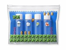 Nintendo Super Mario Travel Clear Pouch & Mini Bottle Set (Underwater Level)