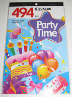 Album Carnet Planches 372 Stickers Autocollants Party Time Fête 24x15cm NEUF