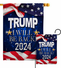 Trump Will Be Back 2024 Garden Flag Vote Patriotic Gift Yard House Banner