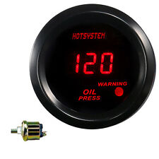 "2""52mm Car Truck Digital Red LED PSI Oil Press Gauge With Sensor #7038 HOTSYSTEM"