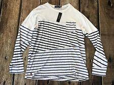 ee72c49f3e0 Polo Ralph Lauren Men s Slim Fit Striped Long-sleeve T Shirt XL White Blue