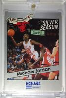 Rare: 1991 91 EQUAL SILVER SEASON STAR Michael Jordan #1, VINTAGE MJ HOF BULLS