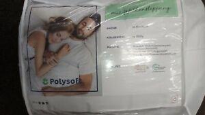 💕 Polysoft Seitenschläferkissen 4-Loch-Hohlfaserkügelchen ca 40x140 cm