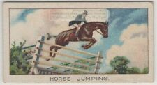 """1912 Olympic Horse Jump Record 7'-5"""" On """"Confidence"""" 1920s Trade Ad Card"""