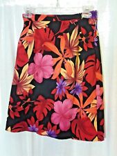 Dressbarn Size 10 Colorful Floral Rear Zip Pencil Women's Skirt