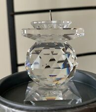 Swarovski Crystal Candleholder 7600 Nr 102 Excellent Condition