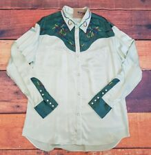 "Levis Vintage Clothing LVC 1939 Two Tone Green Silk Rodeo Shirt SMALL 36""  BNWOT"