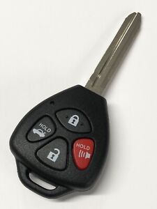 ECCPP Replacement fit for Uncut Keyless Entry Remote Key Fob 2008 2009 2010 Toyota Corolla FCC ADP12514901S Pack of 1