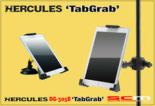 HERCULES STANDS DG305B TABGRAB TABLET/iPAD HOLDER SUITS TABLETS 235mm - 280mm