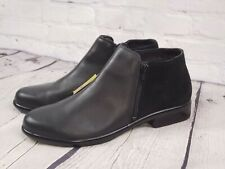 New - NAOT Black Leather Ankle Boots Shooties Booties - Helm - EUR 42