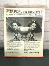 50 Sheets Vtg Afga Brovira & Portriga Pe 5 Trial Packs Photographic Paper 8X10