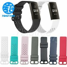 For Fitbit Charge 3 Watch Band Replacement Silicone Bracelet Wrist Straps L/S