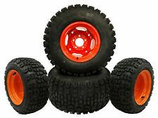 (4) All Terrain Front and Rear Wheel Assemblies Fits Kubota BX2350, BX24D, BX25