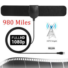 Digital HDTV Indoor Freeview Antenna TV Aerial Signal 980 Mile Range Amplifier