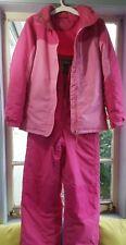 LL Bean Girls/Misses/woman Pink Ski Bib and Jacket pants size 16 jacket size 18
