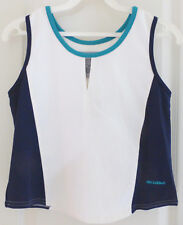 Womens Sleeveless Tennis Golf Shirt Blouse by Bolle' Sport, White, Size Xs, Nwt