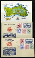 Herm Islands 1954 First Day Covers and Card Lot Scarce