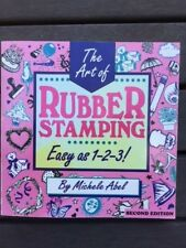 The Art of Rubber Stamping book - easy as 1 - 2 -3 by Michele Abel