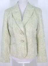 Ann Taylor Blazer Sz 6 Jacket Mint Green Floral Brocade Cotton Linen NWOT Women