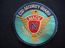 MACV CSD SECURITY GUARD Team - Vietnam War Patch