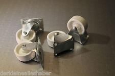 4x Lenkrollen 2 x Feste als Bock und 2x Lenkbare rollen aus Nylon 40 mm Möbel