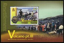 Tristan da Cunha 2013 Volcanoes Pt 3 1v MS MNH