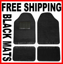Chevy Black Carpet Car 4 pc Front Rear Floor Mat Mats