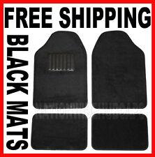 Black 4pc New Carpet Front & Rear Floor Mat Mats Liner Liners Car Truck SUV