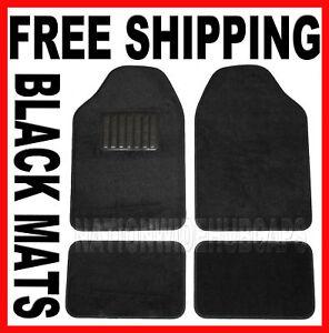 Chevy Black Carpet Car 4 pc Front Rear Floor Mat Mats