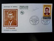 SENEGAL AERIEN 46  PREMIER JOUR FDC     JOHN F. KENNEDY      100F     1964