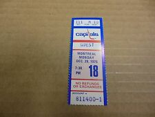 1975 WASHINGTON CAPITALS NHL HOCKEY TICKET VS MONTREAL CANADIENS GOOD CONDITION