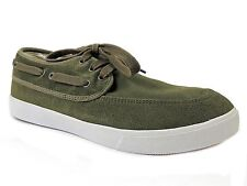 Generic Surplus Men's Suede Boat Shoes Olive Green Size 9 M