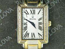 Bulova Women's Fairlawn Diamond Two-Tone Stainless Steel White MOP Dial Watch