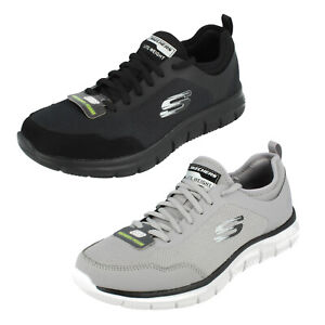 Hommes Skechers Lite-Weight Lacet Mémoire Mousse Baskets Piste Féroce Kat