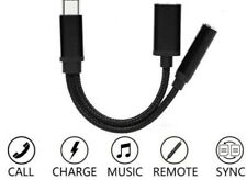 Type C to 3.5 mm and Charger Headphone 2 in 1 Audio Jack USB C Cable Adapter