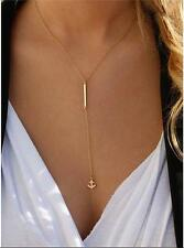 New Pendant Gold Chain Choker Chunky Statement Anchor Necklace Jewelry Charm
