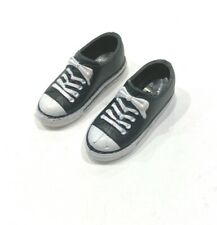 PKP-SH-BK: 1/12 scale black sneakers for Mix Max, TBLeague bodies with bare feet