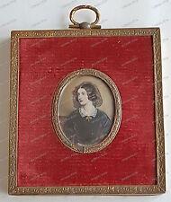 Dame-Frau-Miniatur-Lupen-Malerei-Antik-Gemälde signiert A.Stieler
