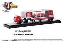 1:64 M2 Machines AUTO-HAULERS R30 *SPEED DAWG* 1970 Dodge L600 Semi 1971 Cuda
