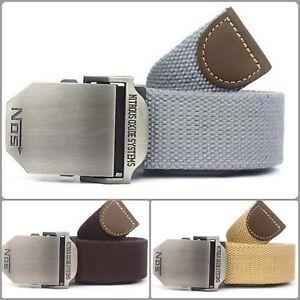 Men Casual Belt Buckle Military Adjustable S Canvas Style Luxury Strap Grommet