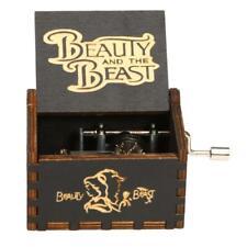 Vintage Wooden Music Box Antique Hand Crank Clockwork Box Home Decor (C) #B