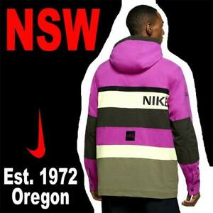 NIKE NSW HOODED JACKET WOVEN CITY ADVENTURE OUTERWEAR STREET OUTDOOR HIKING M