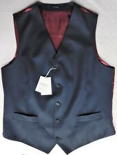 Mans ink blue wool waistcoat Charles Tyrwhitt chest size 42 inch slim fit L NEW