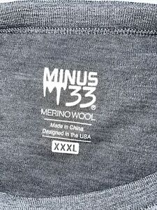 Minus 33 3XL GRAY Merino Wool Long Sleeves Shirt Mens * holes