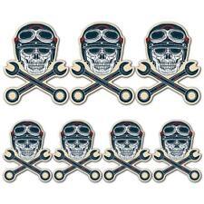Skull & cross keys laminated game stickers moto biker lever coffee