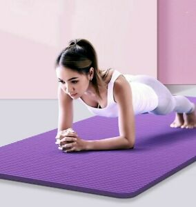 Yoga Mat NBR 10mm 15mm Thick Anti-slip Blanket Home Gym Fitness Exercise Pad