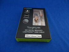 IPHONE LIGHTNING CABLE - TOUGHLINK MFI METAL COIL - GOLD (1.2M)